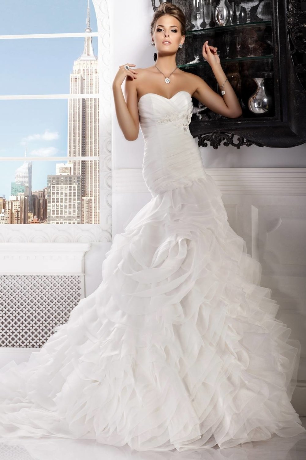 BELLA wedding dress (IVORY,PEACH color) $600