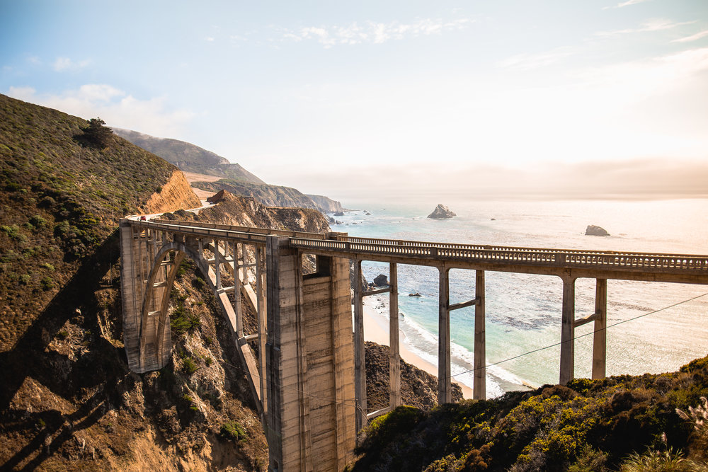The iconic Bixby Bridge looking unusually quiet due to road closures to the north. Photo: @francisfraioli