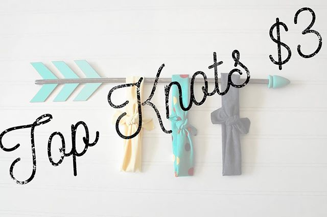 ALL TOP KNOTS $3!! And did I mention almost everything is ready to ship?! So you'll get your orders quickly!! Happy shopping!!