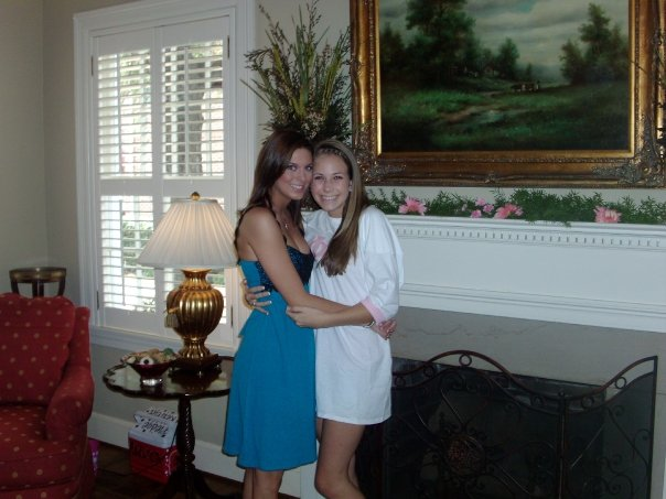 Veronica of  Four Threads  and I on Bid Day in 2008. She was my big sister :)