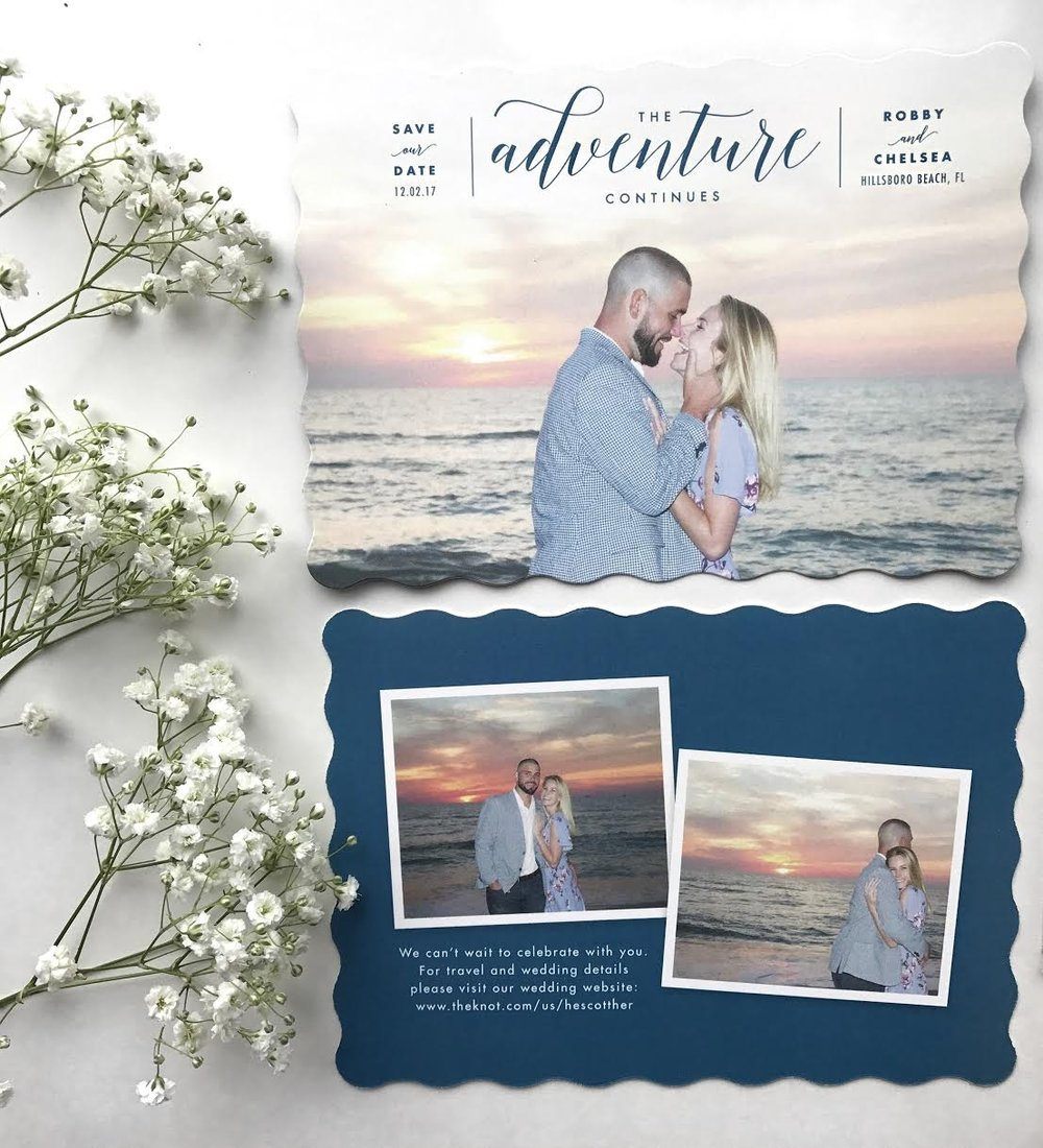 - A big thank you to Minted for our beautiful save-the-dates! It was a joy to work with you :)