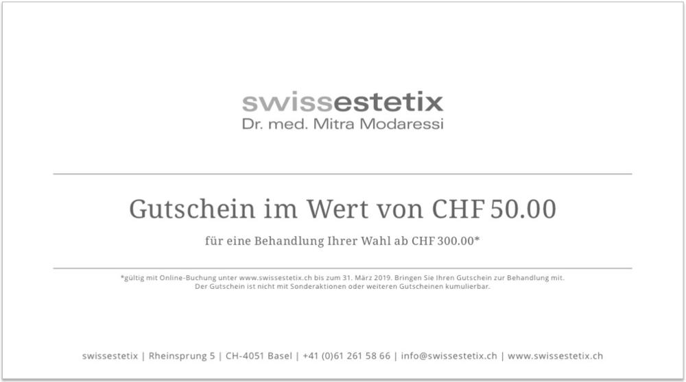 swissestetix | Dr. med. Mitra Modaressi | Rheinsprung 5 | CH-4051 Basel