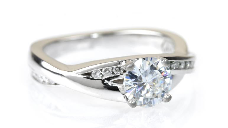 Custom Moissanite Engagement Ring