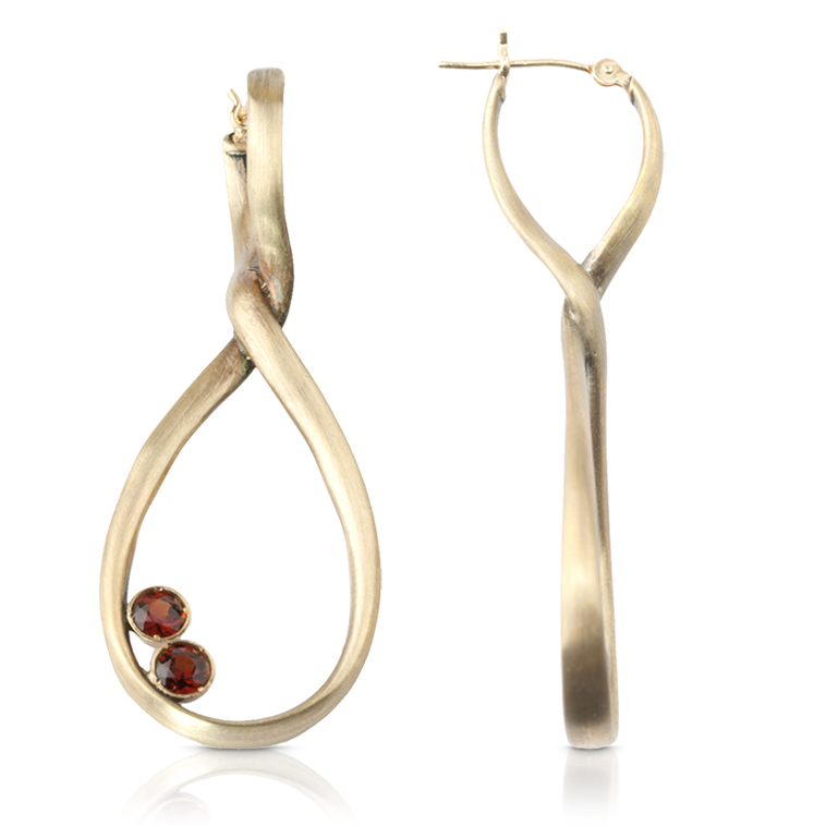 Bronze Garnet Earrings