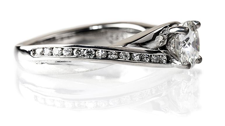 Custom design Moissanite engagement ring