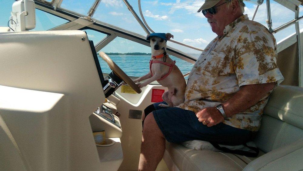 Tinker bell driving boat.JPG