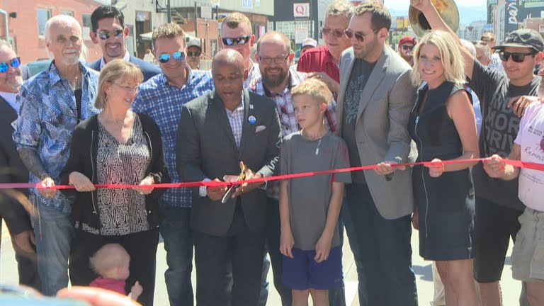 "Businesses Excited For Brighton Boulevard Phase 1 Completion  ""Denver Mayor Michael Hancock was on hand to cut the ribbon on phase one of the project, calling it a main artery to the city.""   6/21/18 CBS 4 Denver"