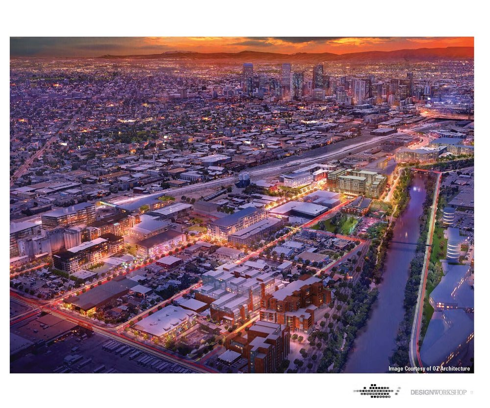 """Hurley's bold vision for a huge open lot in between Chestnut and the river includes keeping it open, true to the neighborhood, and local.""   10/18/18 Denver 7 News"