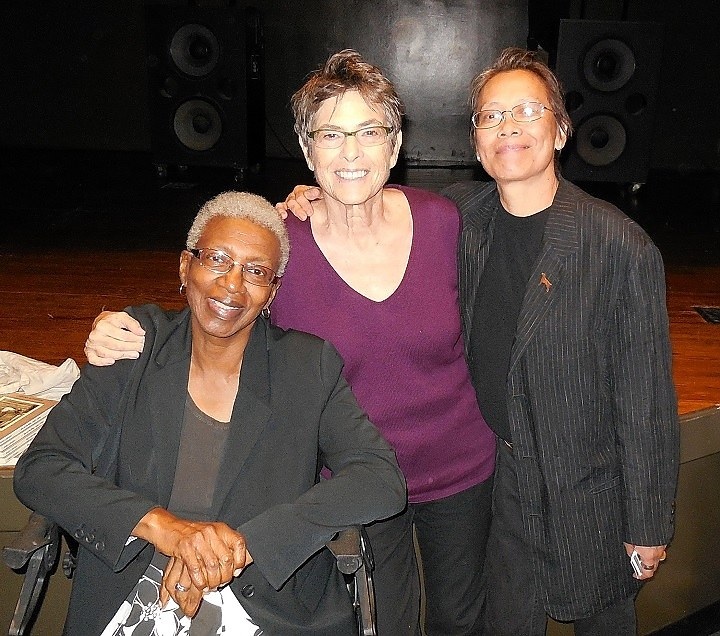 Angela Bowen (left), Jennifer Abod, and poet Kitty Tsui (PHOTO BY ROSIE KAR, PHD)