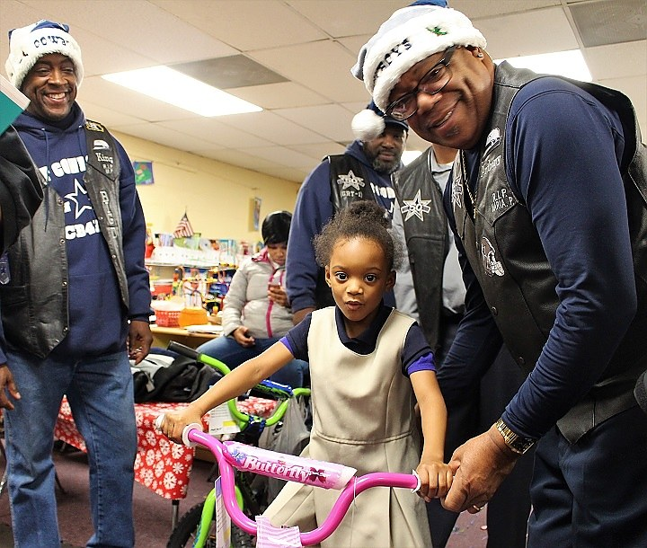 Essence Bennett gets a brand new bike from the CT Cowboys Fan Club.