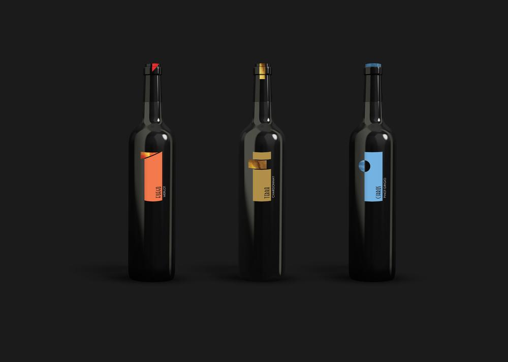 Wine Bottle Label Design Nicole Wang