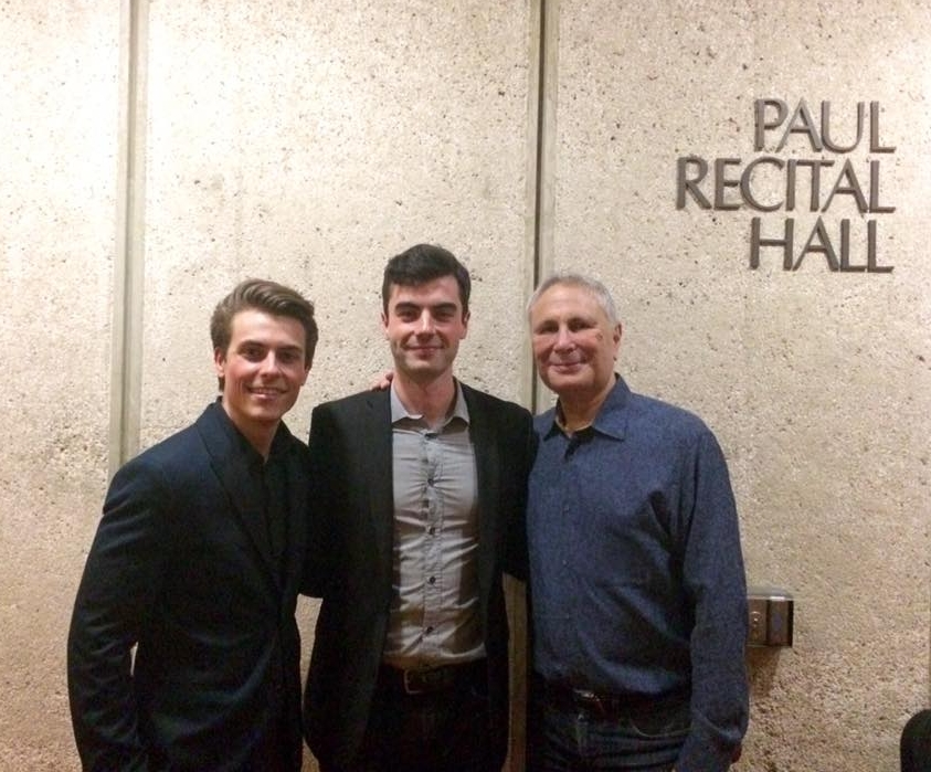 Connor, Composer Will Healy, and John Corigliano , after the concert at The Juilliard School of Music