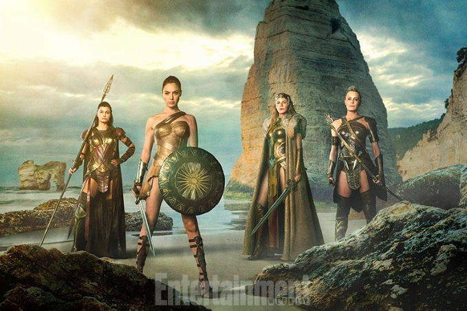 Entertainment Weekly's Teaser Image of Wonder Woman & The Amazons.