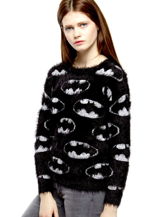 "The Batman/""Catman"" Plush Sweater from Eleven Paris."