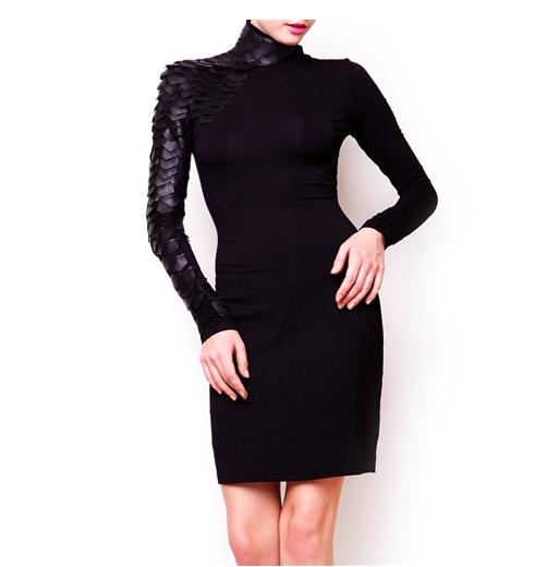 Gracia.com's Body-con Scale-Mail Sheath Dress