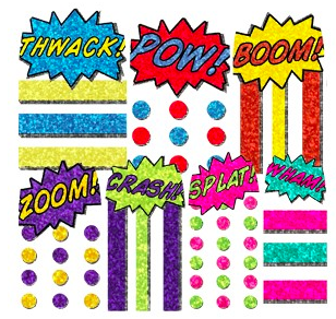 Comic Nail'd It nail wraps