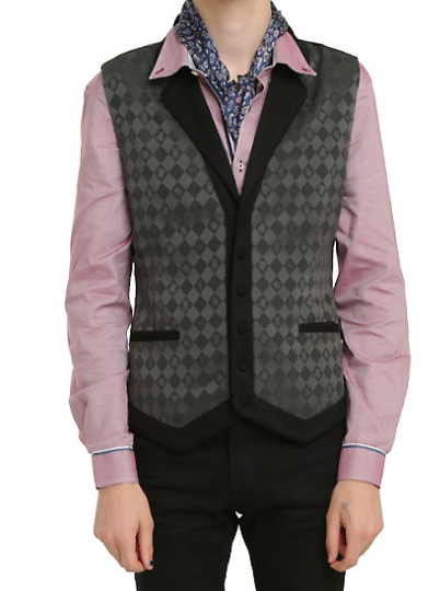 Mad Hatter Guy's Vest - $59.50
