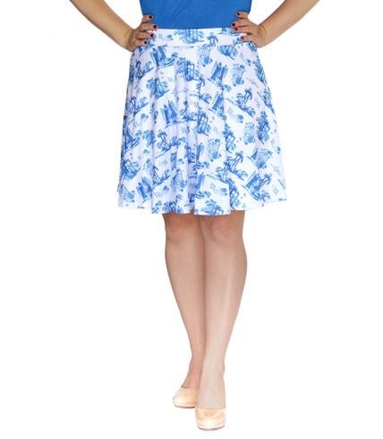 Toile Patterned Doctor Who Skirt - $35.00
