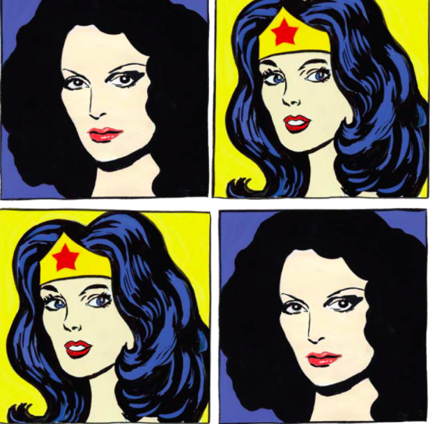 Diane Von Furstenburg + Wonder Woman + Andy Warhol essence = WTF?
