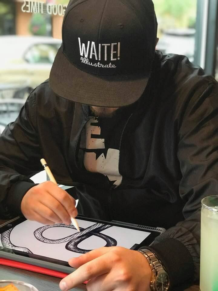 Hello! - Waite! Illustrate is run by designer & illustrator Brandon Waite. His passion for all things creative started in elementary school. He now uses his super powers on behalf of others doing his part to bring some beauty and craft into the world.