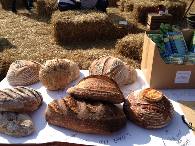 Sharing  Area of Outstanding Bread  guides at the  Aldeburgh Food and Drink Festival  2017