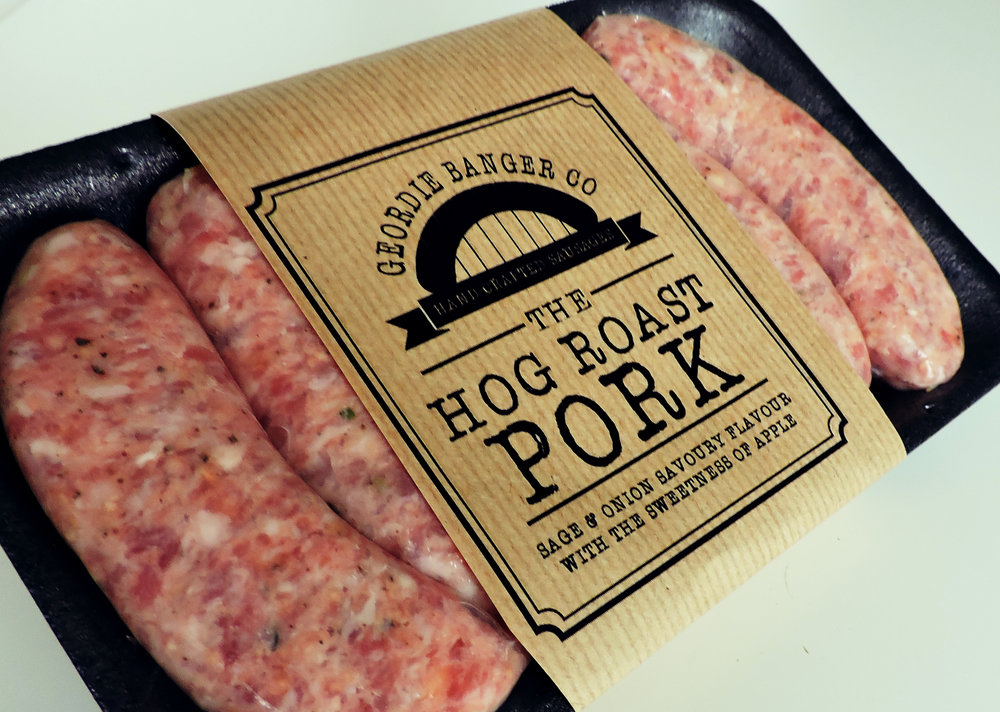 HOG ROAST - PORK SAUSAGE WITH SAGE AND ONION WITH THE SWEETNESS OF APPLE
