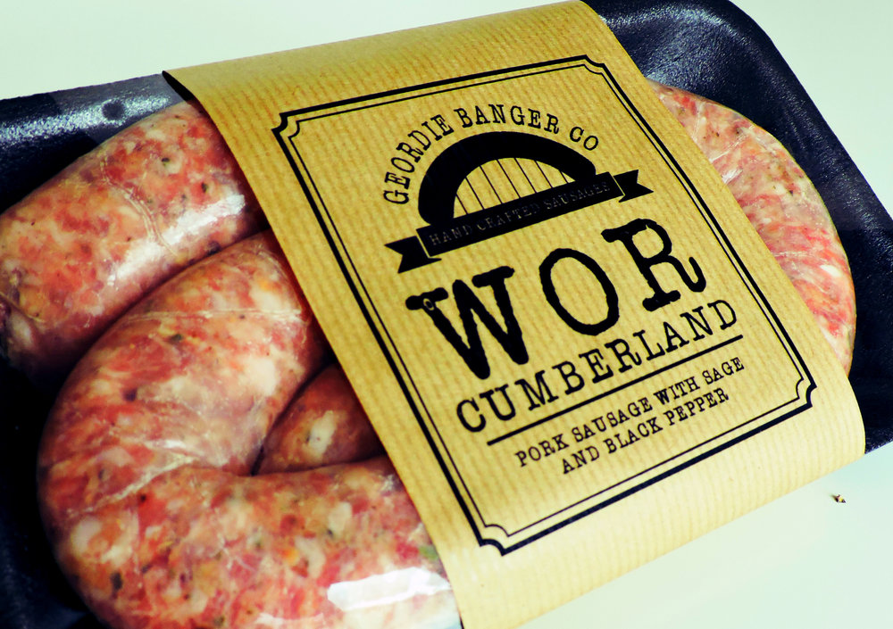 WOR CUMBERLAND - PORK SAUSAGE WITH SAGE AND BLACK PEPPER