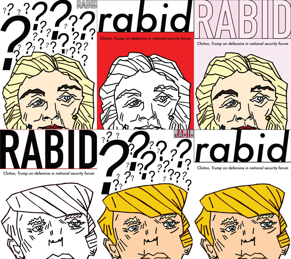 2016 Presidental Campaign RABID Magazine Cover (6 Different Versions)