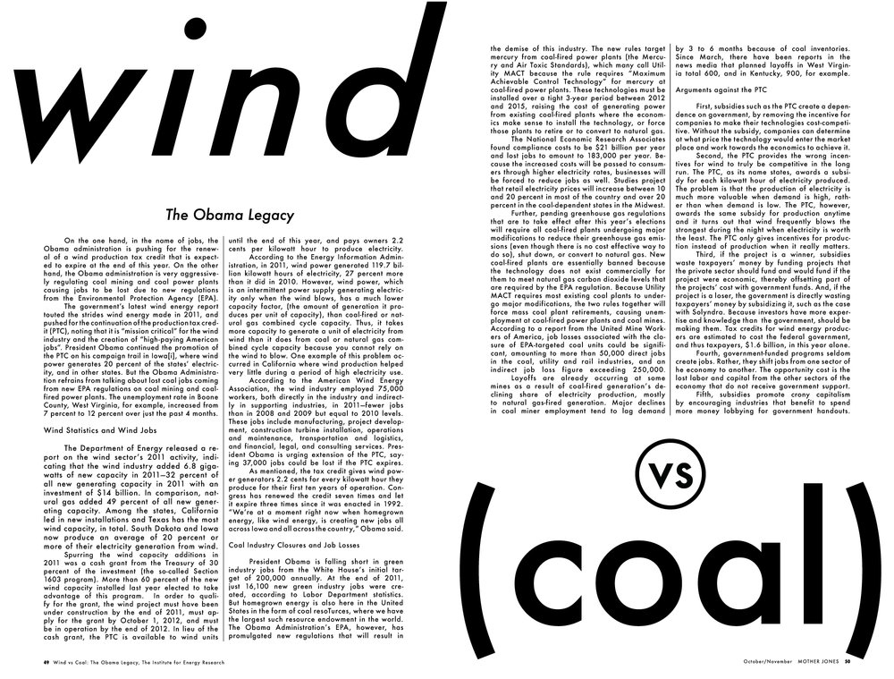 Wind vs. Coal (version one)