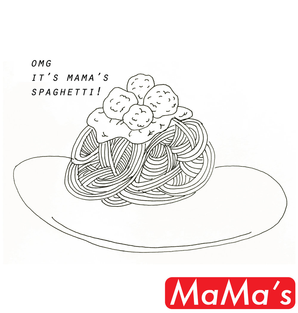 OMG it's Mama's Spaghetti (version three)
