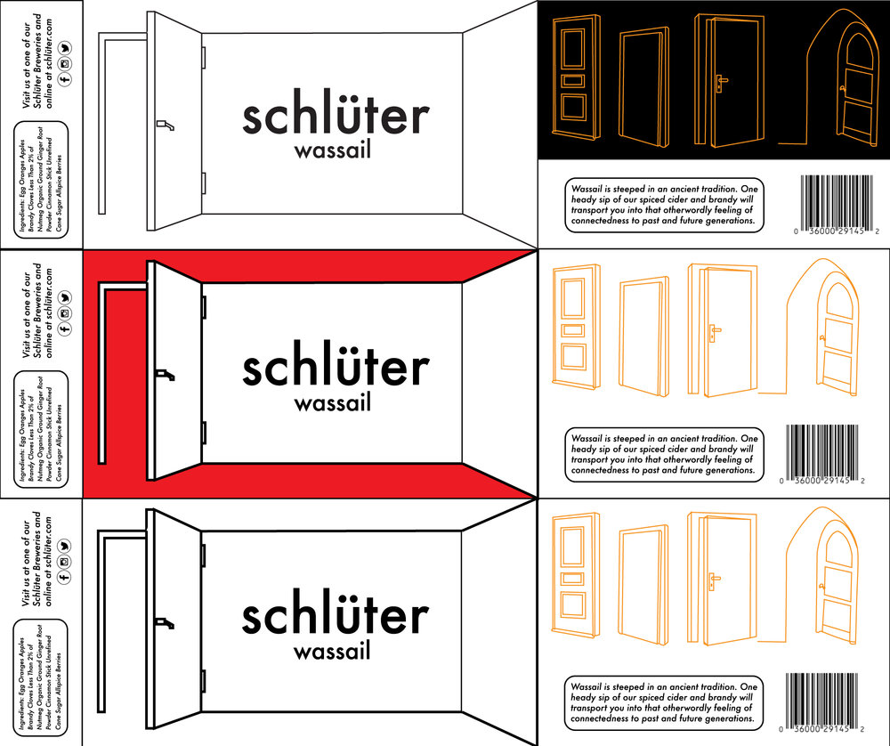 Schlüter Wassail Beverage Sleeve Layout (three different versions)