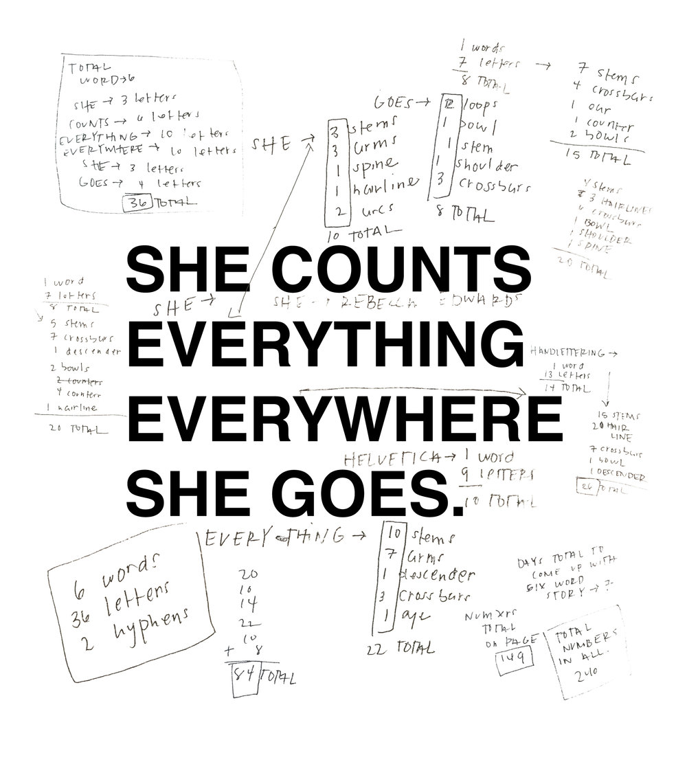 She Counts Everything Everywhere She Goes (Version One)
