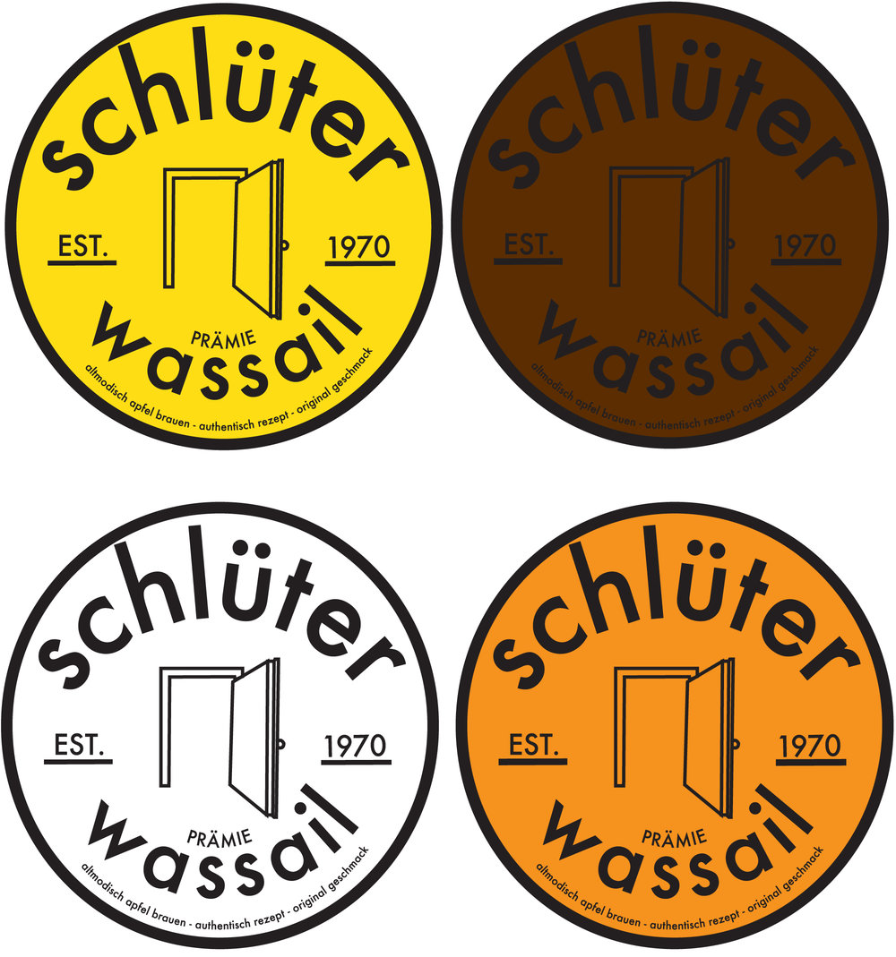 Bottle Cap Logo Design for Schlüter Wassail