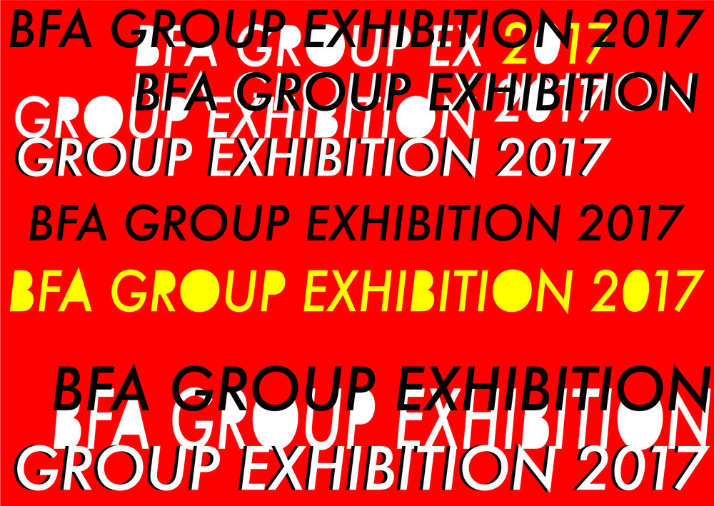 BFA Senior Exhibtion Promotional Postcard