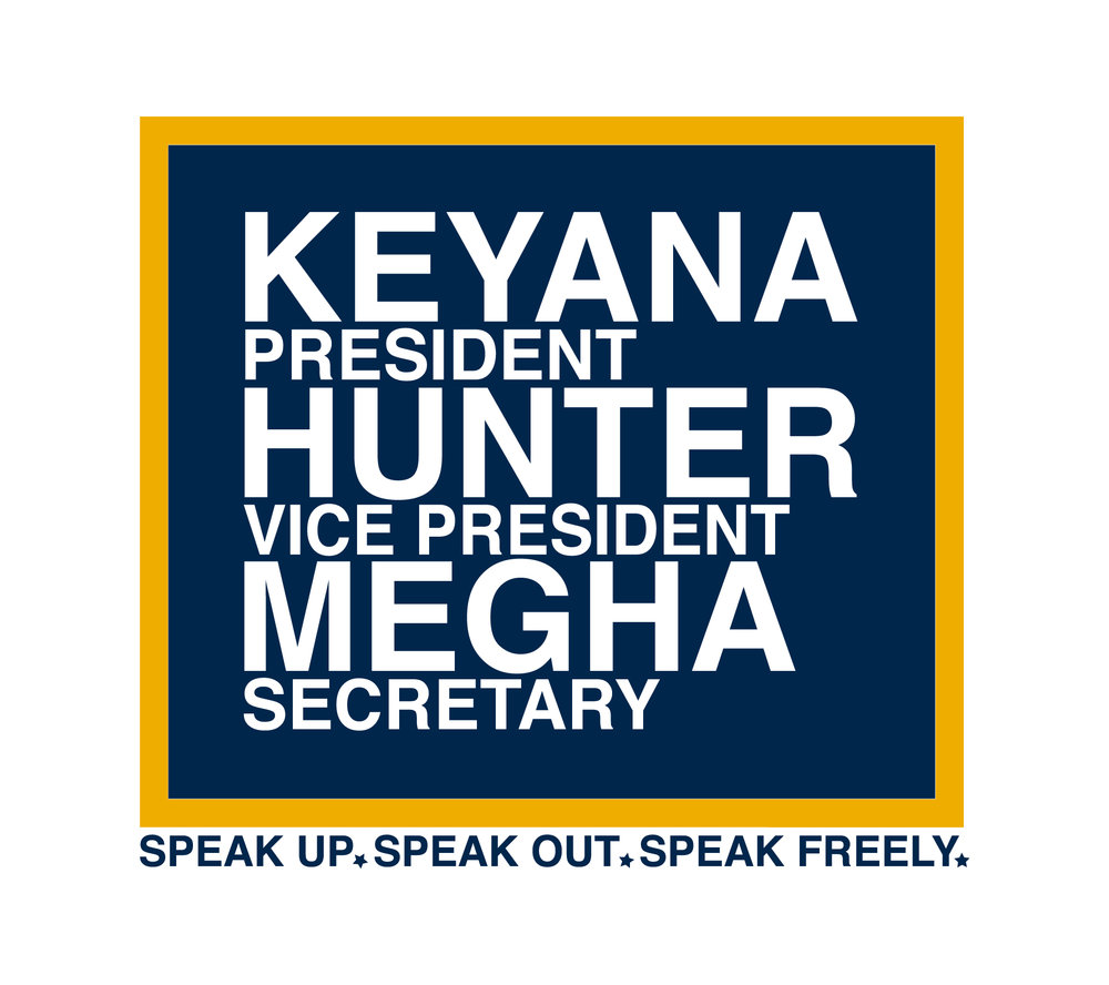 SGA Election Logo for Contestant Nominee Keyana Miller