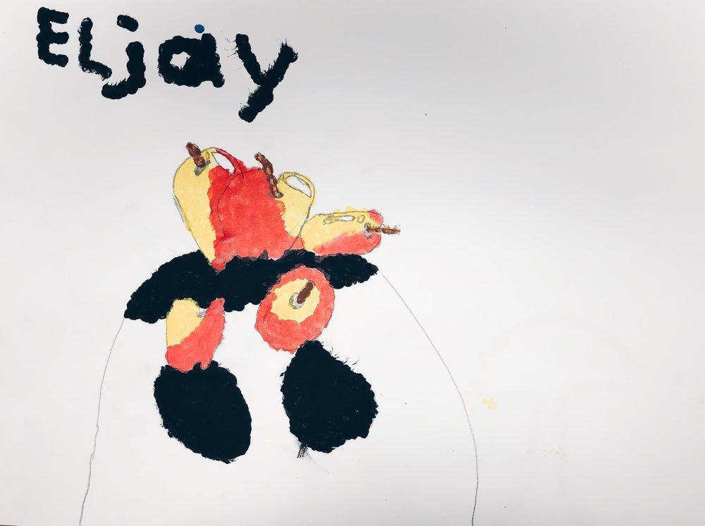 Pointillism George Seurat Inspired Still Life - 3rd Grade