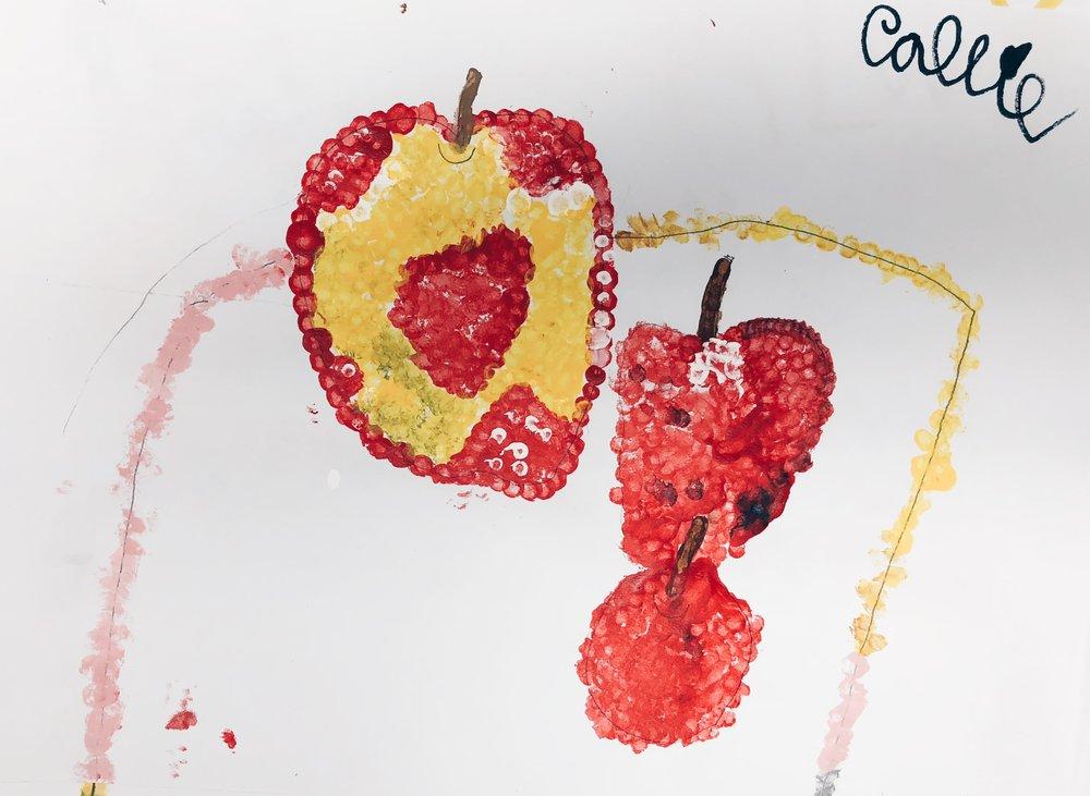 Pointillism George Seurat Inspired Still Life - 1st Grade