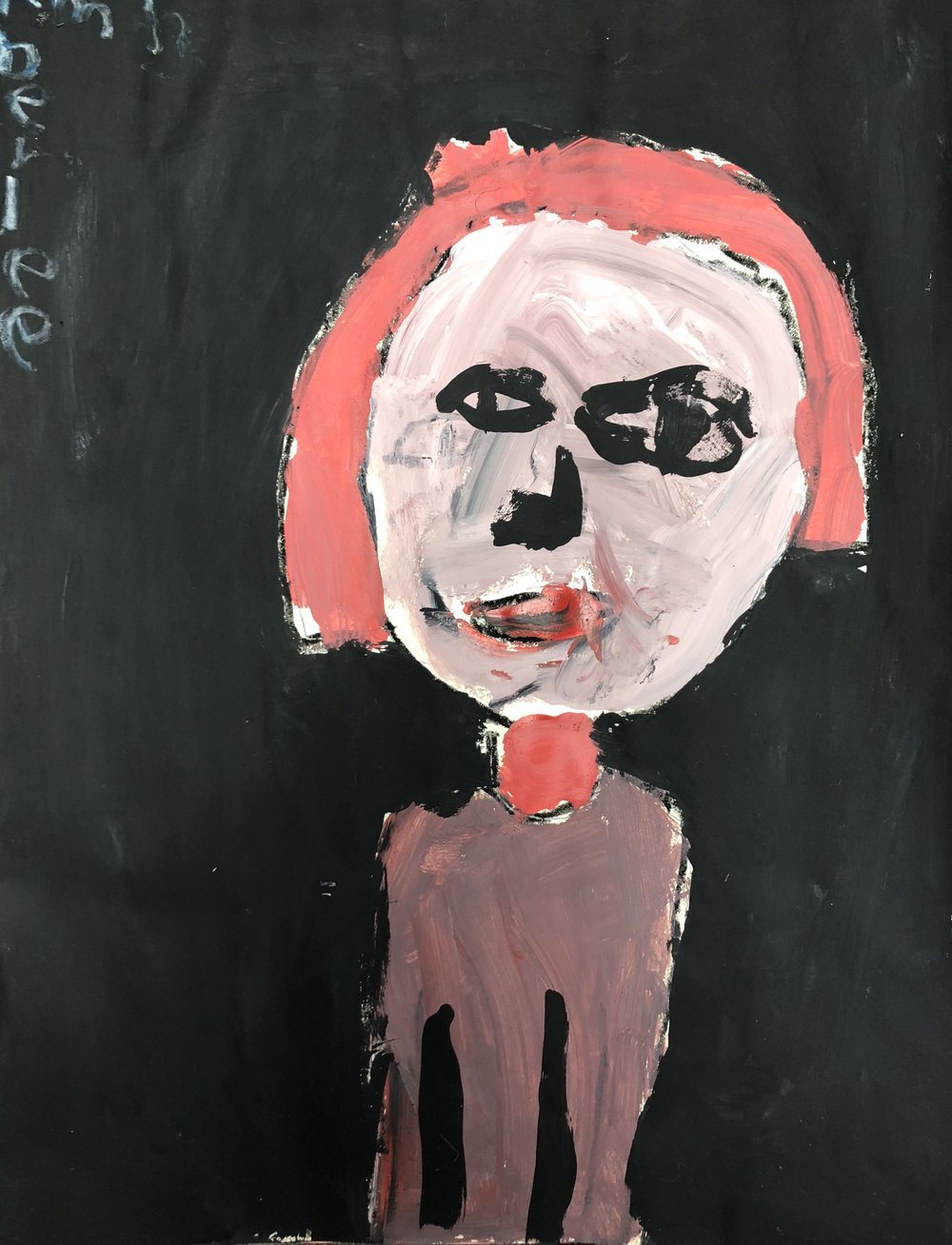 Picasso Rose/Blue Period Inspired Self-Portrait - 1st Grade