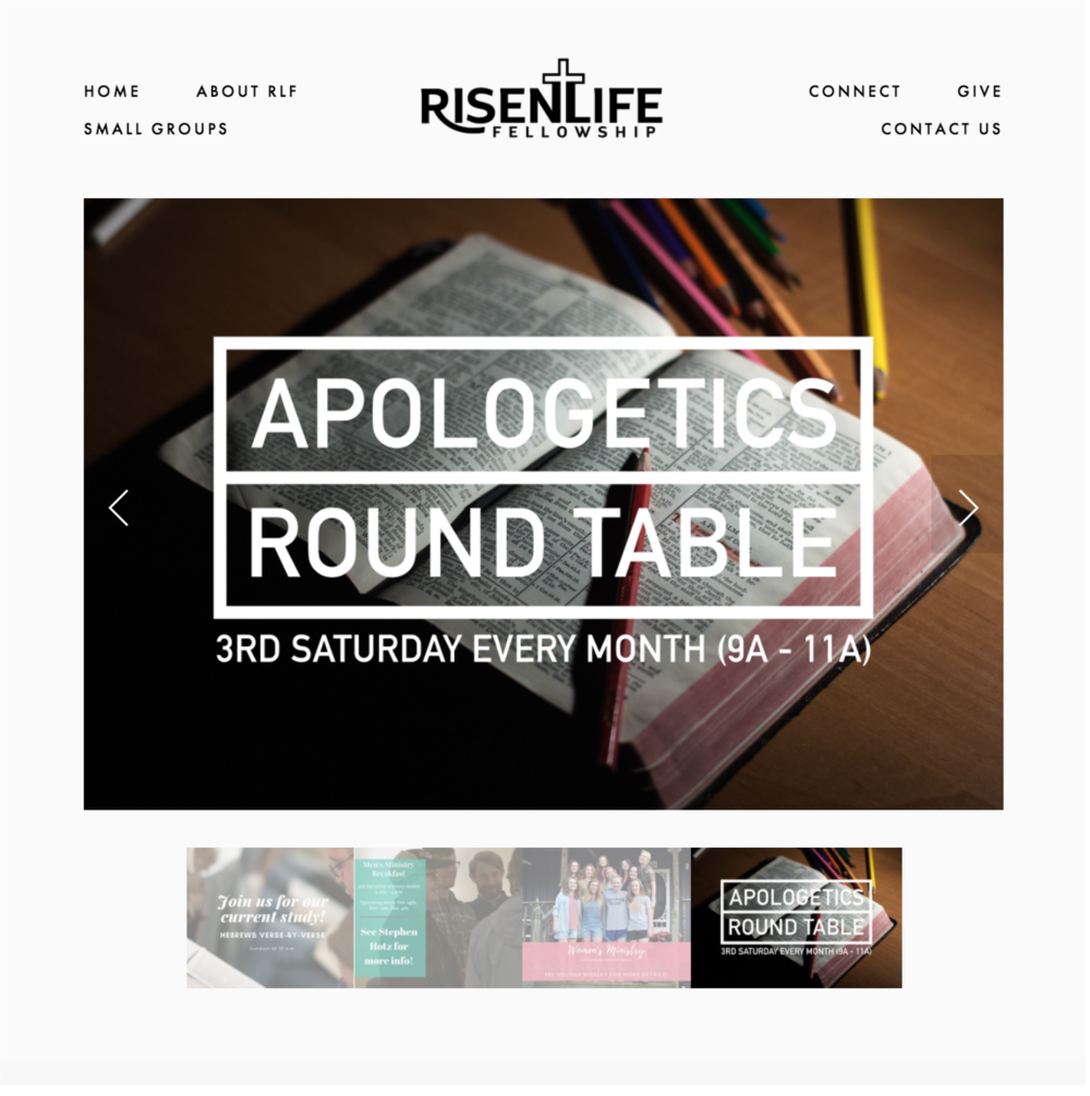 Risen Life Fellowship Website Design