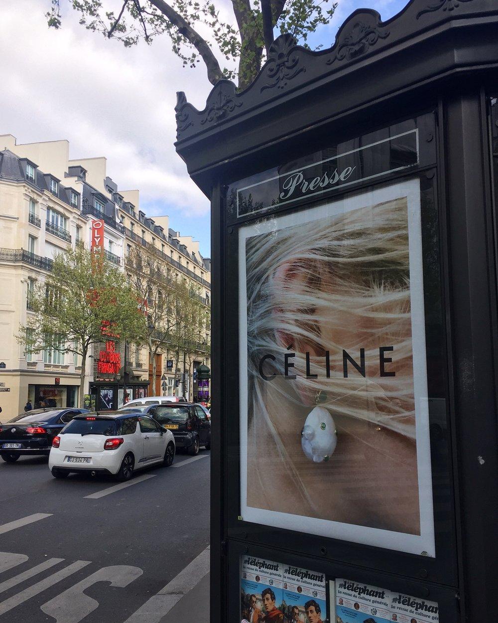 Dans La Rue: Céline Advertisment.