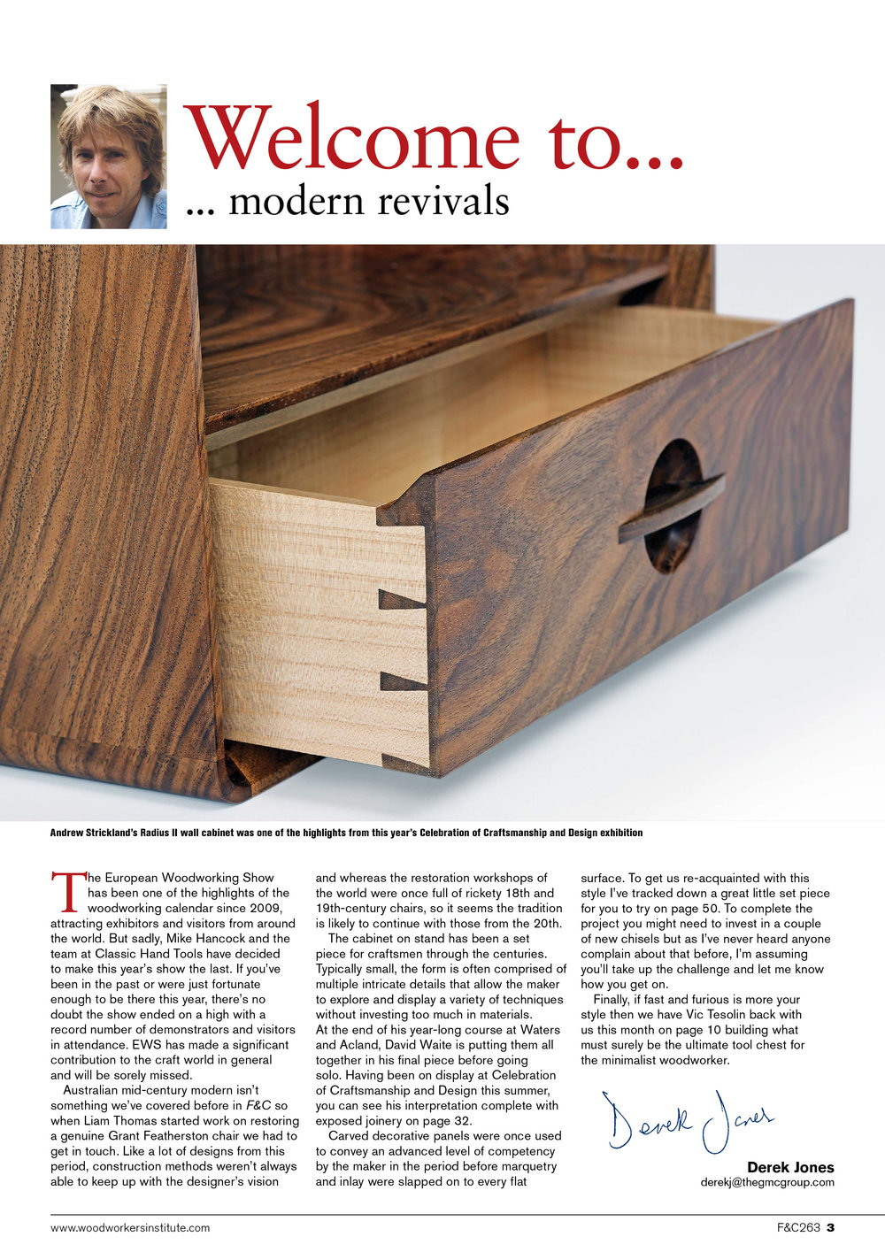 Furniture & Cabinetmaking Magazine / Issue 263 / November 2018