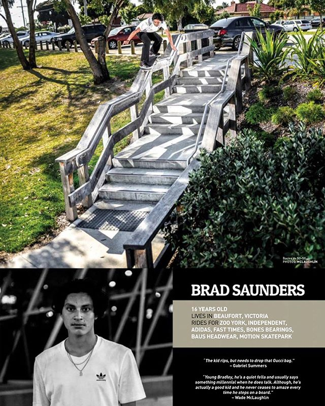 🔥🔥 Team rider @brad.saunders has a focus on the new @slamskateboarding 👏🏻 👏🏻 congrats 📸 by @wade_mclaughlin #slamskateboarding #ZooYorkSkateboards