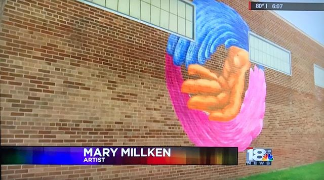 Did you catch me on the local news? @wenytv did a nice feature and @wetm18news spelled my name wrong after I spelled it out for them 😂 #localartist #publicartwork #muralist