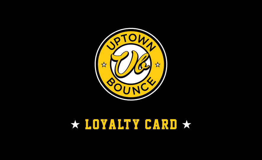 LOYALTY CARD - Get one stamp for every full priced bounce - your 6th bounce is half price, and your 10th bounce is FREE! Ask our front desk on your next visit.
