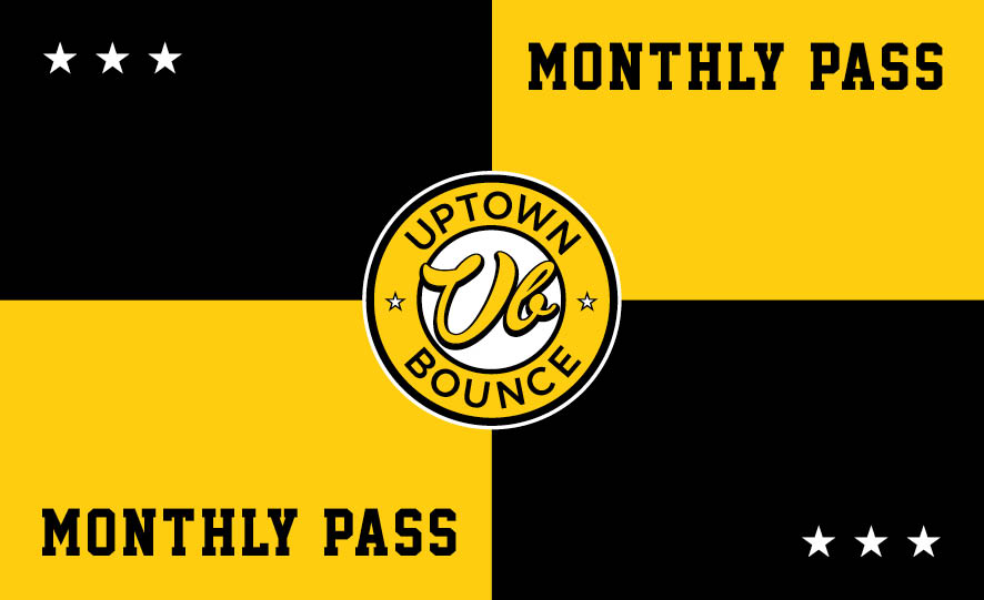 MONTHLY PASS - Unlimited bouncing for one month for a one off payment of $69.Ask our front desk on your next visit.*Conditions apply