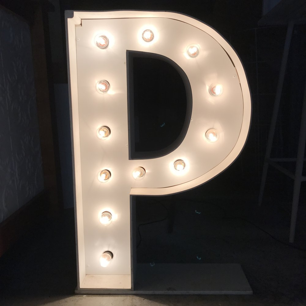 Illuminated Giant Event Letter Hire Brisbane