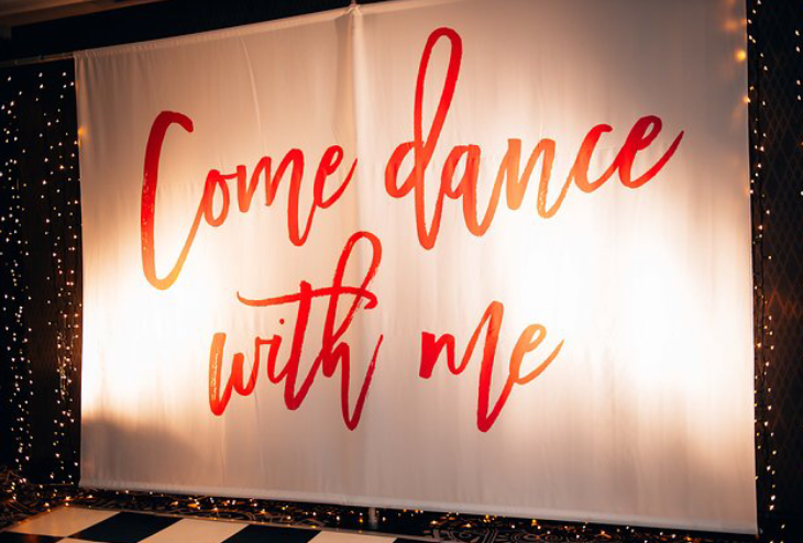 Come Dance With Me Canvas Backdrop Avideas Come Dance with Me!