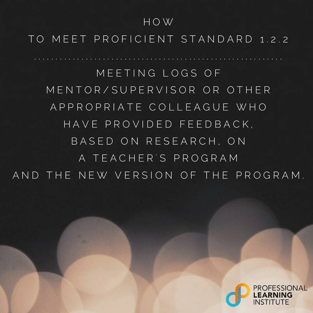 How to Meet Proficient Standard 4 - NST Support by Professional Learning Institute