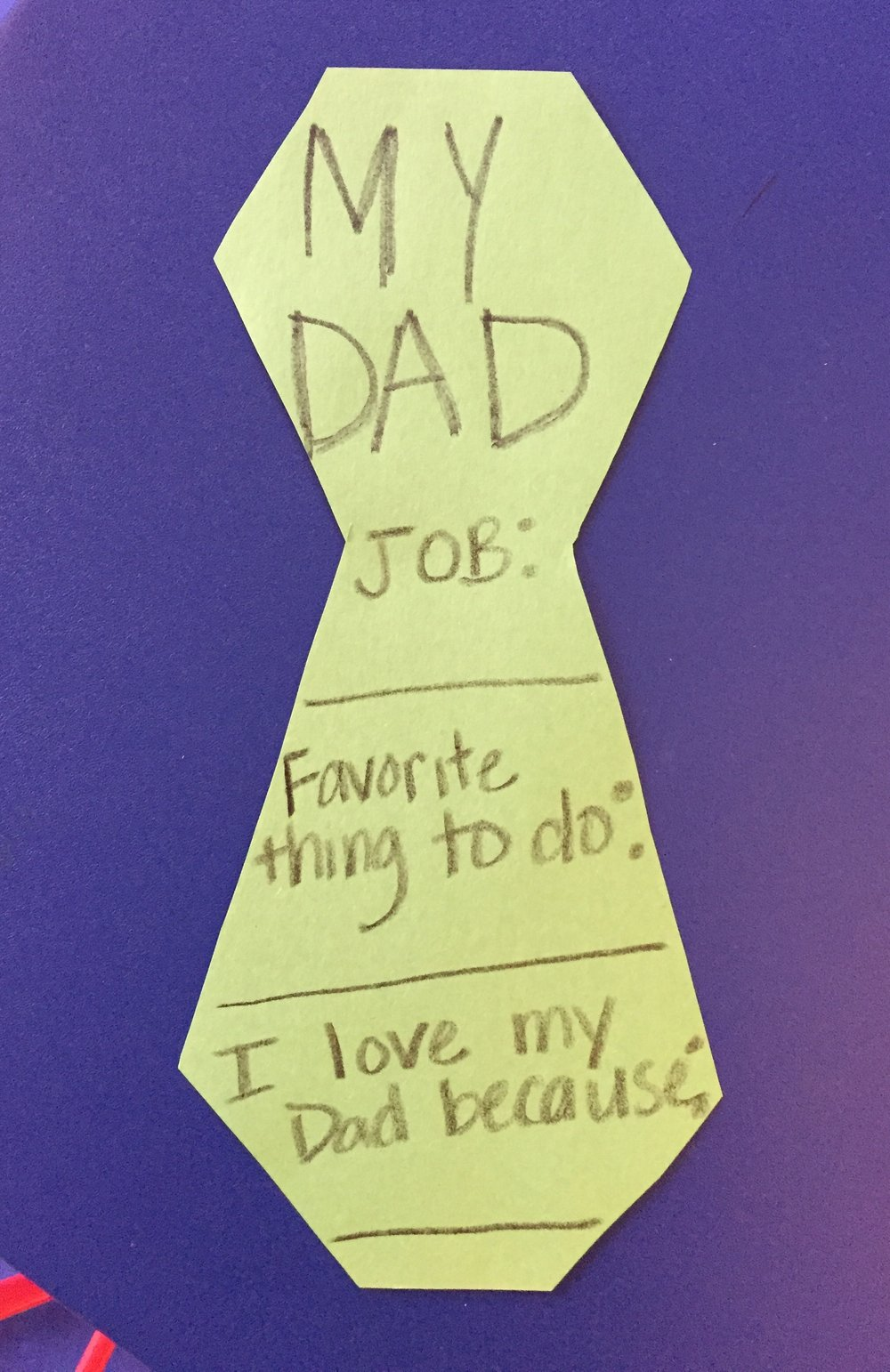 OT Activity of the Day- Father's Day
