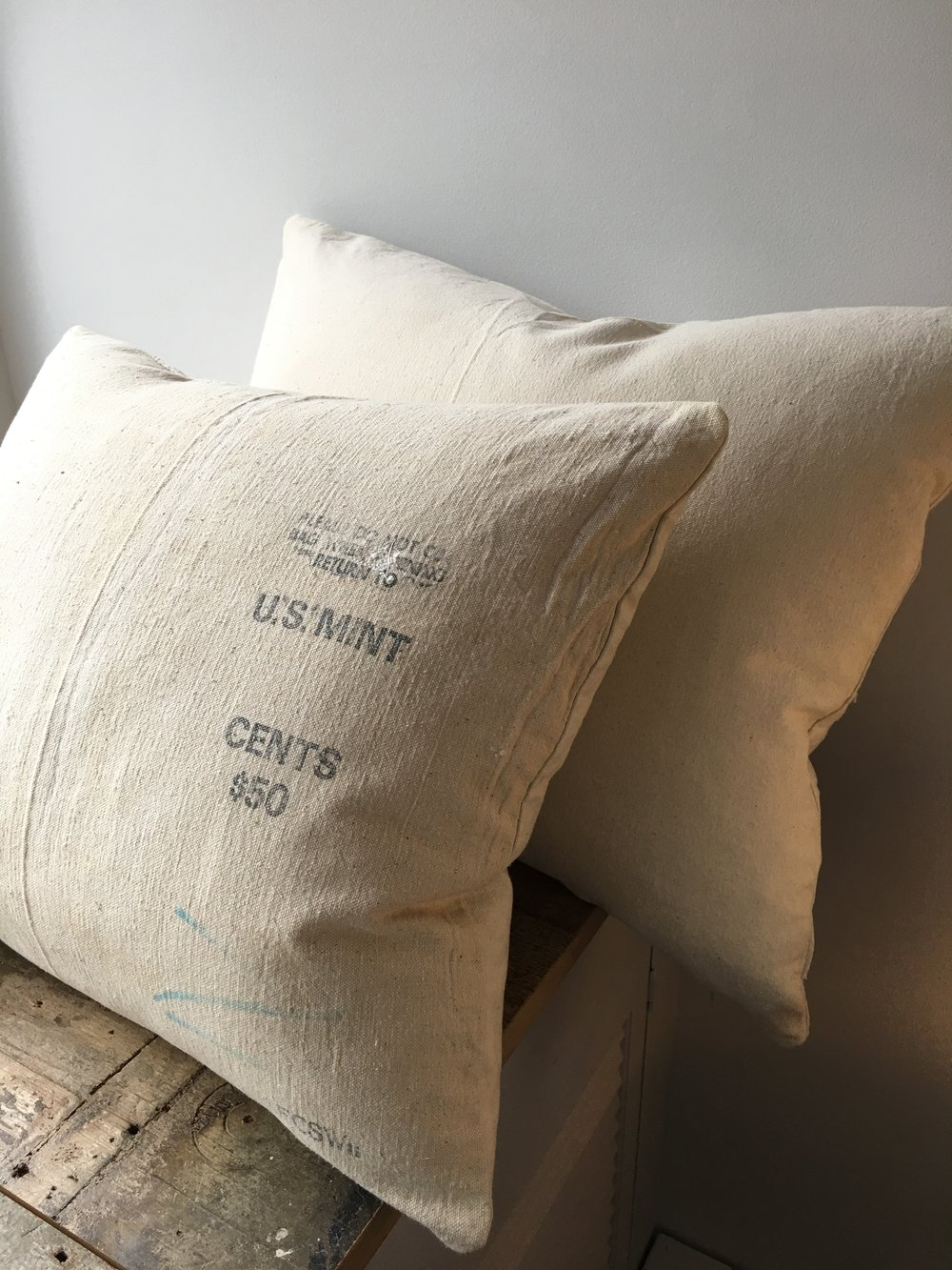 old moneybags make sturdy pillows